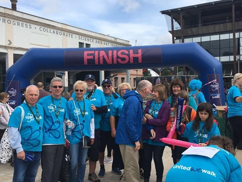 Golden Memories group complete Alzheimer's Society walk