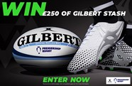 Gilbert Rugby are giving away £250 of stash to one lucky fan!