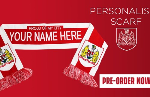 Personalised scarves available to pre-order