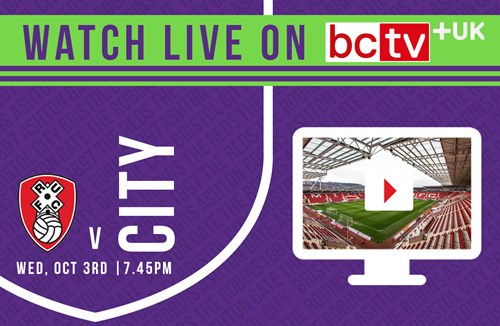 Watch City take on Rotherham United live online in the UK