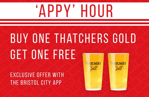 'Appy hour' - Buy one Thatchers Gold get one free
