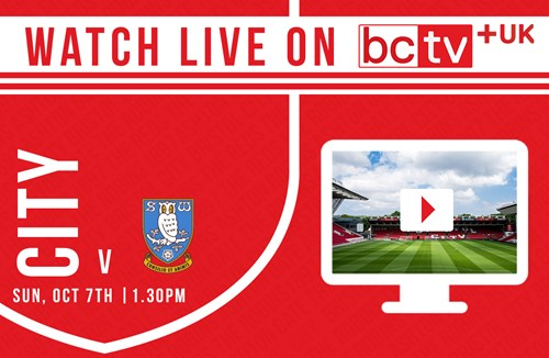 Watch City take on Sheffield Wednesday live online in the UK