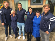 Trio pay visit to St Peter's Hospice