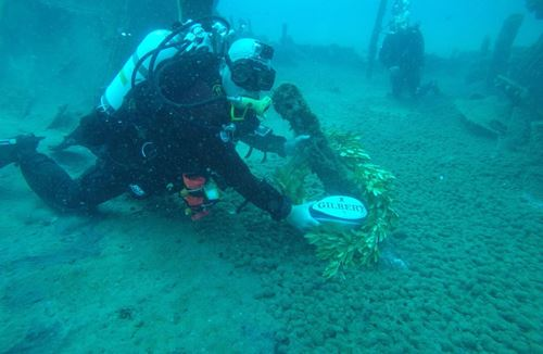 Armed Forces match ball reaches Gallipoli