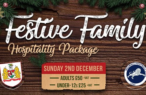 Festive family hospitality package on sale now