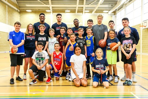 Flyers stars visit half-term holiday camp