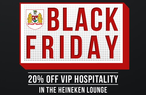 Black Friday offer on VIP hospitality
