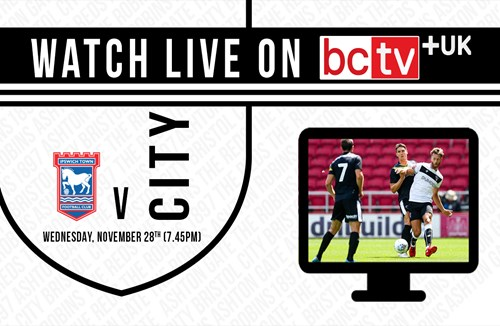 Watch City v Ipswich Town live online in the UK