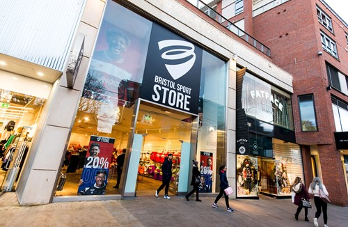 Visit the Bristol Sport store in Cabot Circus