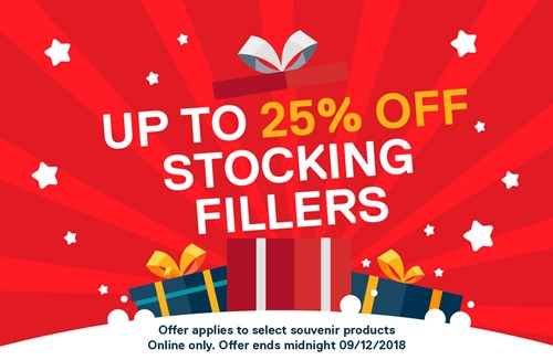 25% off stocking fillers in the online store!