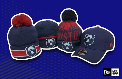 Bobble hats available in store and online