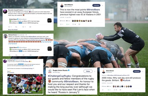 Social media round-up: From Russia with tries
