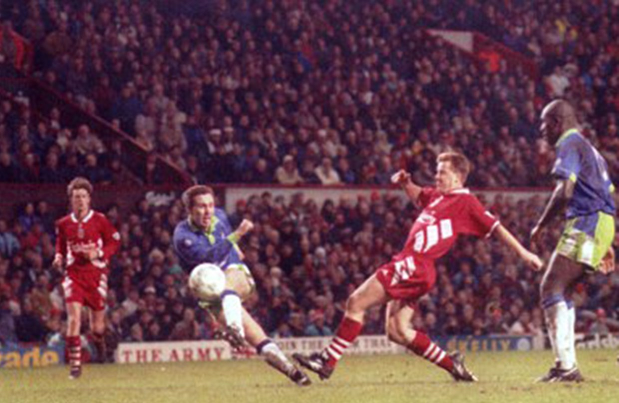 Video: Brian Tinnion reflects on famous Liverpool win thumbnail