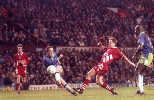 Video: Brian Tinnion reflects on famous Liverpool win