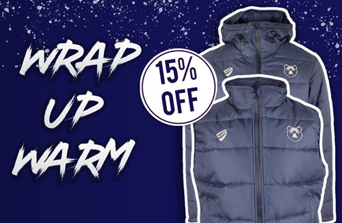 15% off coats and jackets!