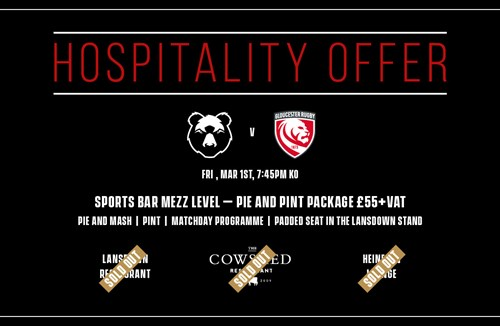 Last remaining hospitality offer for Gloucester