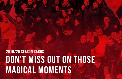 Season cards available to members