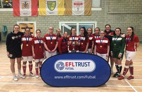 Bristol City Women win silverware in the EFL Trust Futsal Women's Cup
