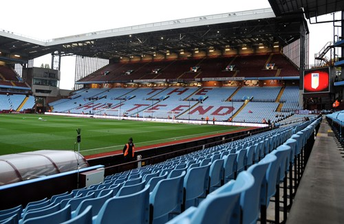 Aston Villa sold out reminder