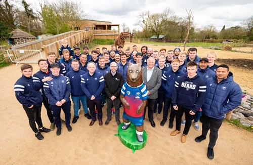 Bristol Bears reveal club sculpture at Wild Place Project