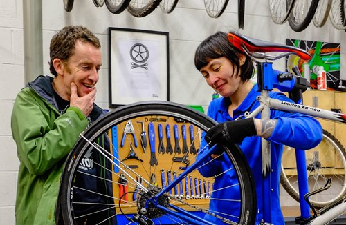 Free cycle repairs with the Bears