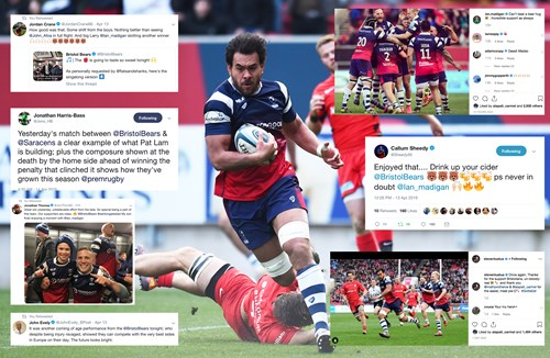 Social media round-up: Bears sink Sarries