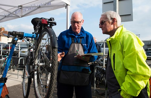 Free cycle repairs at Ashton Gate