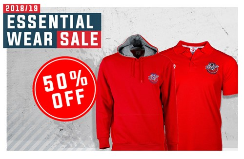 50% off all Bristol Flyers essential wear