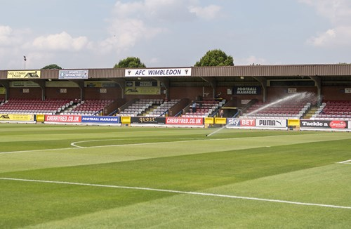Cash on the gate only for AFC Wimbledon friendly