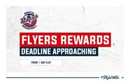 Flyers rewards cash deadline approaching