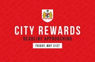 Redeem your City Rewards before deadline