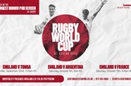 Sports Bar open for England's Rugby World Cup matches