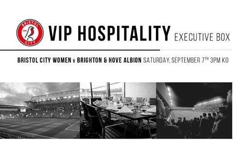 Secure VIP hospitality for Bristol City Women clash at Ashton Gate