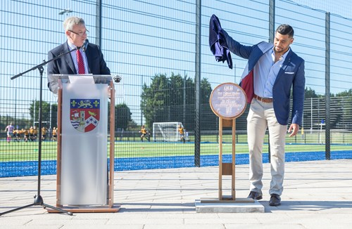 Charles Piutau opens new pitches at QEH Sports Ground