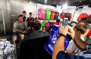 Gallery: Hughes and Piutau in Ashton Gate store