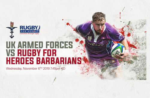 Getting to the Gate: UK Armed Forces v Rugby for Heroes Barbarians