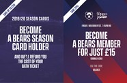 Take advantage of season card and membership offers