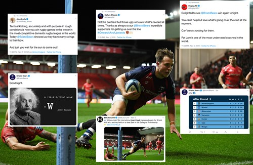 Social media round-up: Bears dig deep in the rain