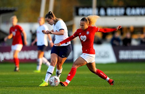 Salmon on duty with the Lionesses U19s