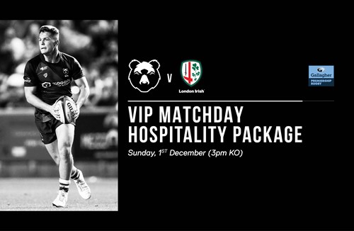 Book matchday hospitality for London Irish clash!