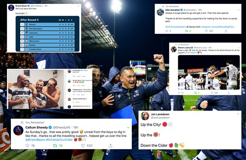 Social media round-up: Bears snatch last-gasp win
