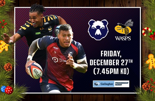 Tickets on sale for Festive clash against Wasps