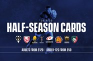 Pick up ideal Christmas gift with half season cards on sale NOW!