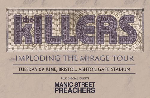 The Killers set to perform at Ashton Gate Stadium