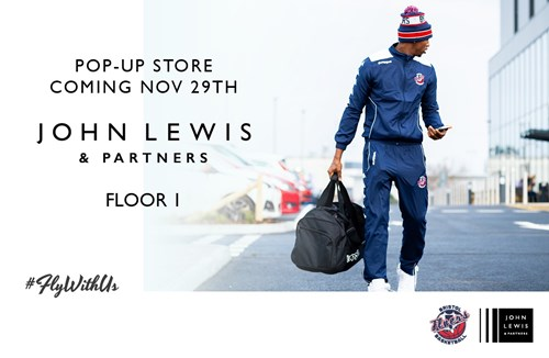 Meet Bristol Flyers players at John Lewis pop-up store