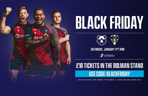 Black Friday ticket offer for Brive clash