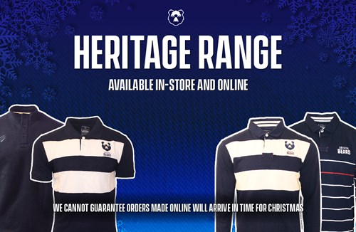 Bears launch heritage range in store and online