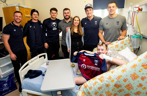 Video: Players and staff visit Bristol Royal Hospital for Children