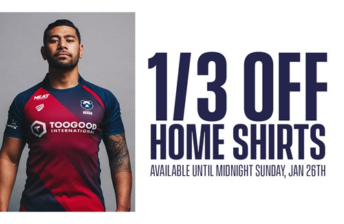 1/3 off Bristol Bears home shirt offer now available!