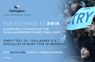 Win hospitality tickets to the Gallagher Premiership Rugby Final